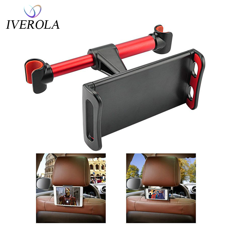 Univerola Car Holder Back Seat Mount Stand Adjustable Car Mount Mobile Holder Tablet Holder 5-10inch Support Bracket For Phone