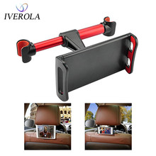 Univerola Car Holder Back Seat Mount Stand Adjustable Car Mount Mobile Holder Tablet Holder 5-10inch Support Bracket For Phone(China)