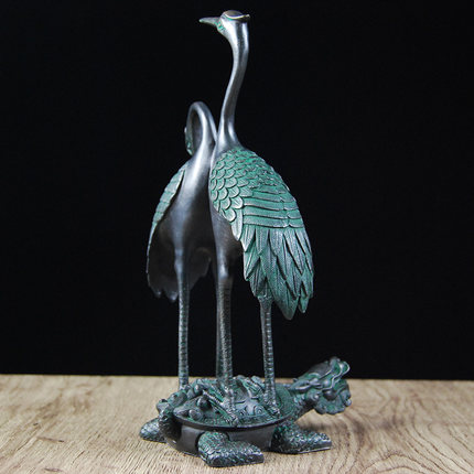 Grue et tortue de Dragon artisanat salon bureau cadeaux de haute qualité décoration de la maison - 2