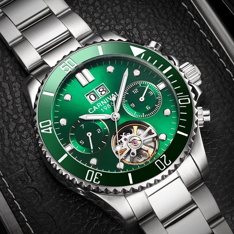 Top Brand Men Watch Luxury Automatic Mechanical Men's Watch Tourbillon Auto Date Watches Men Clock saat erkek kol saati relogio thumbnail