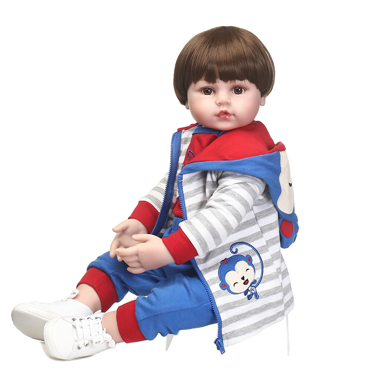 55cm Silicone Reborn Baby Boy Doll Toys For Kid Child Lovely Vinyl Babies Dolls Fashion Birthday Present Gift Girls Brinquedos new lovely rabbit baby full silicone reborn babies dolls toys the best birthday present gift for kid child bathe shower toys