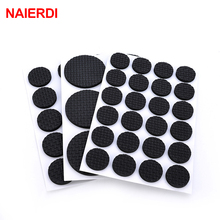 NAIERDI Anti Slip Mat Self Adhesive Furniture Pads Feet Rug Felt Pads Bumper Damper For Chair Table Protector Hardware self adhesive chair table cabinet feet rug felt pads floor scratch protector anti slip mat bumper damper for furniture