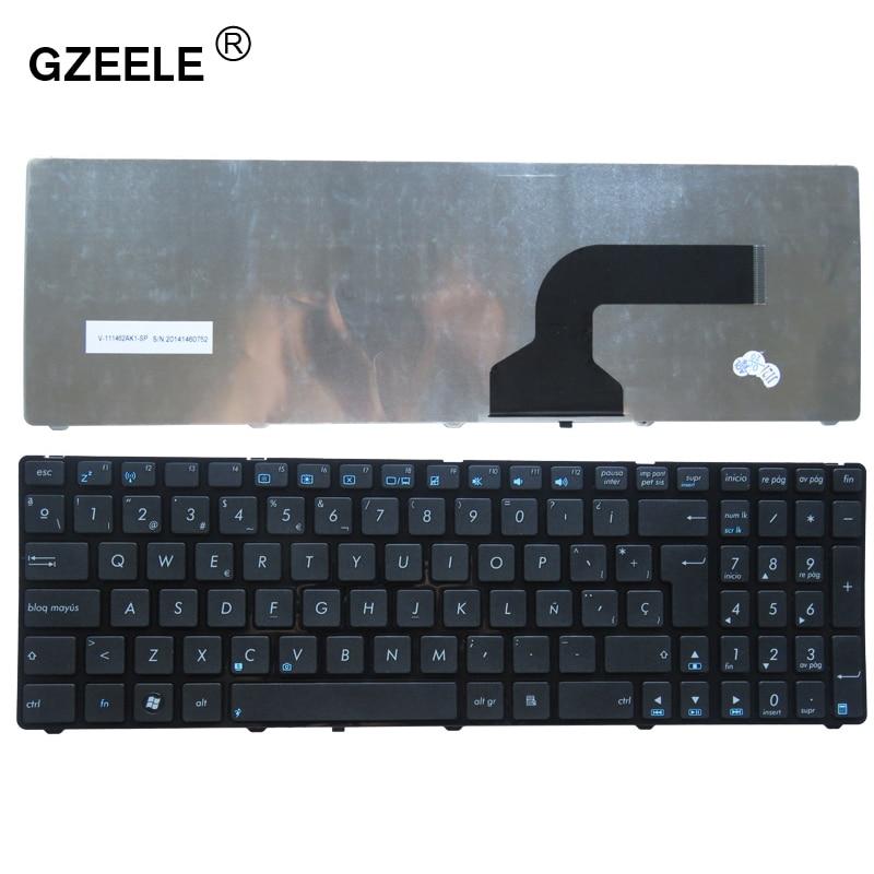 GZEELE nouveau Clavier Espagnol Pour Asus X53 X54H k53 A53 N53 N60 N61 N71 N73S P52 P52F P53S X53S A52J X55V X54HR SP portable clavier