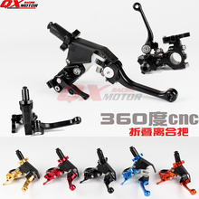 Dirt bike MX Motorcycle Universal CNC Adjustable Extendable Folding Clutch Lever For CR CRF XR XL CRM 85 125 150 230 250 450  цена
