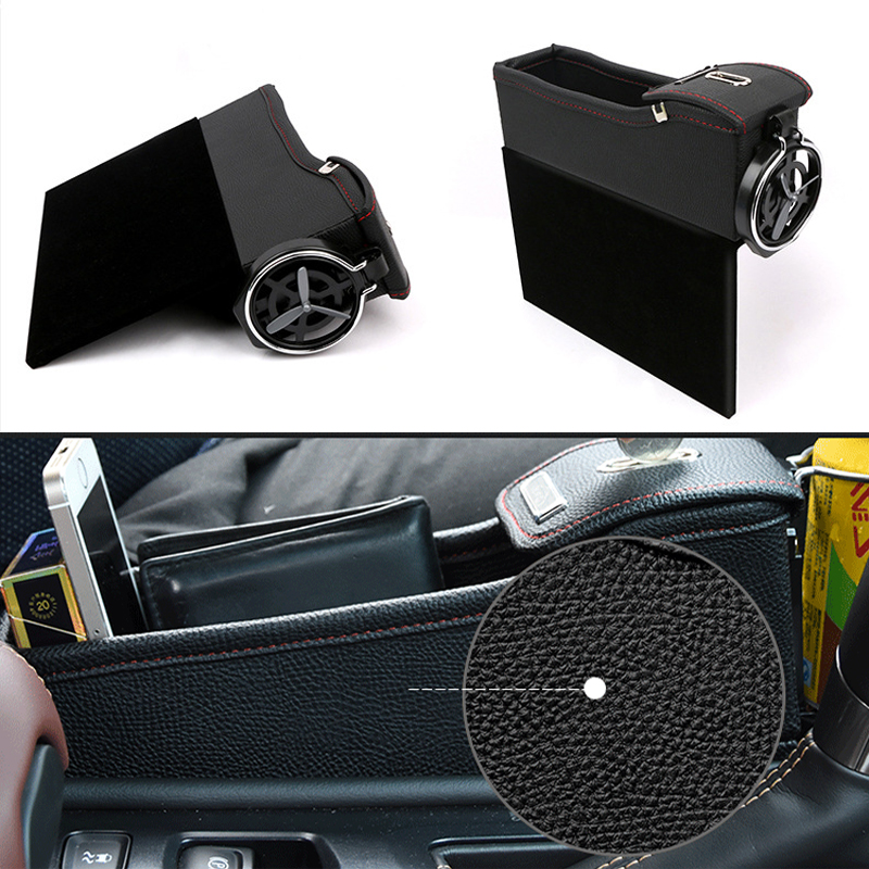 Image 5 - Storage Box Car Organizer Seat Gap PU Case Pocket Car Seat Side Slit for Wallet Phone Coins Cigarette Keys Cards For Universal-in Stowing Tidying from Automobiles & Motorcycles