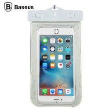 Baseus оригинальный универсальный ясно водонепроницаемый мешок под 5.5 дюймов люминесцентные случаи для iphone для samsung работает плавательный мешок