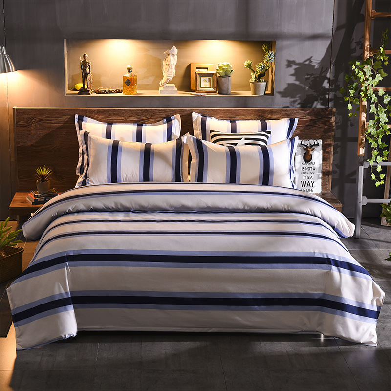 Stripe  Bedding Sets Brief Nordic Style Boy Kid Teen Bed Linen 3Pcs Duvet Cover Pillowcase Bed SheetStripe  Bedding Sets Brief Nordic Style Boy Kid Teen Bed Linen 3Pcs Duvet Cover Pillowcase Bed Sheet