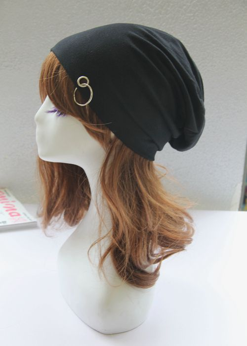 2017 Headwear Hip Hop Street Woman Scarf Hat Outdoors Hats Solid Color Thin Cap Hoop Circle Package Head Cap