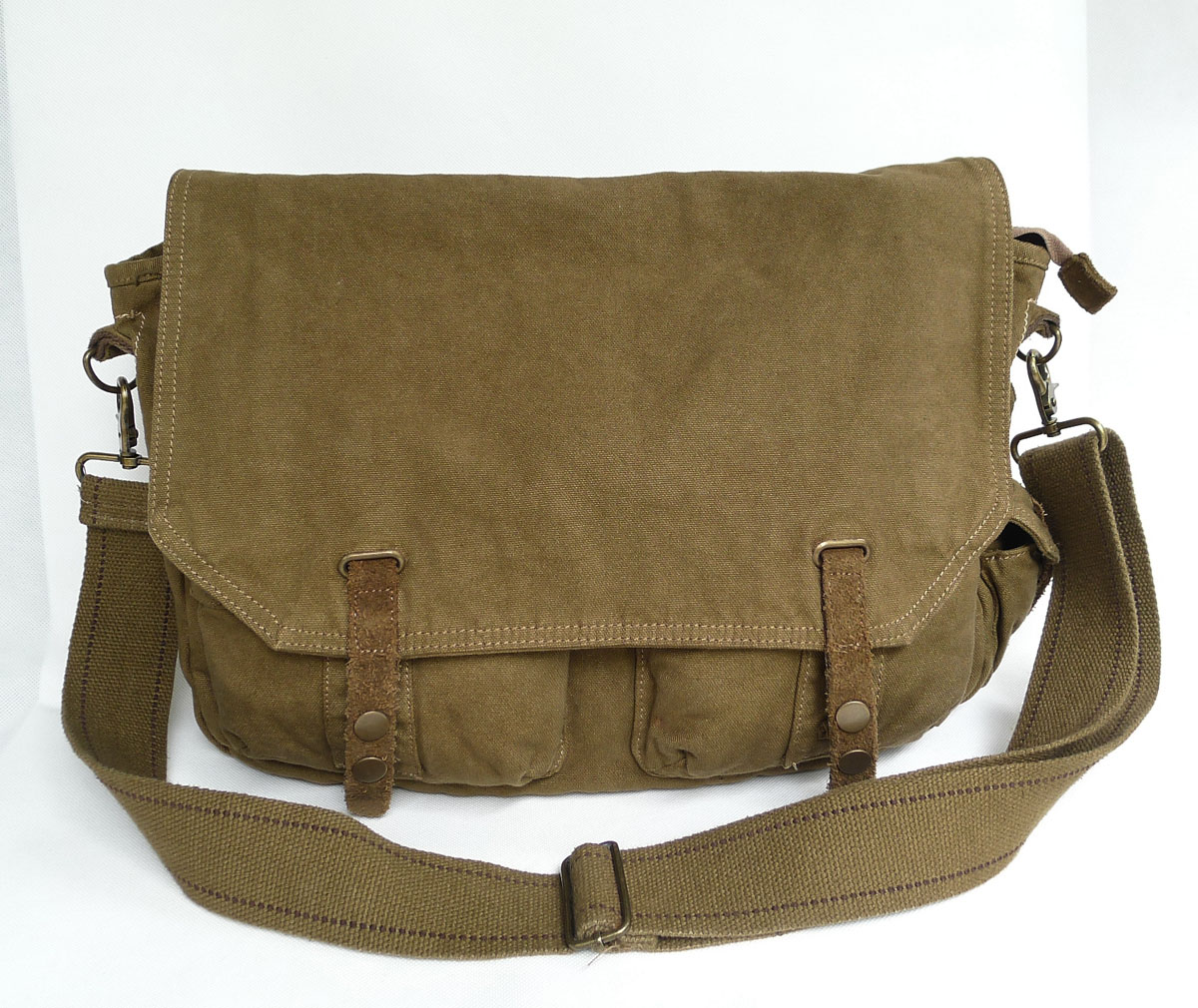 Virginland brand reporter bag military male canvas school