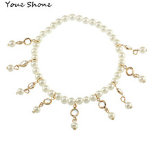 Fashion wild pearl tassel Stretch beach anklet Women's anklet accessories jewelry Pearl anklet For women Bracelet on the leg