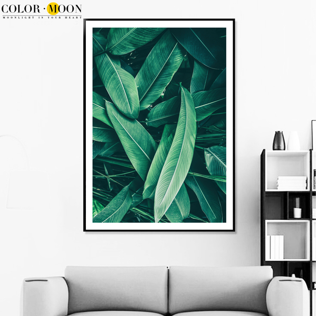 Wall Art Canvas Painting Nordic Poster Green Plant Leaf Posters Prints Bedroom