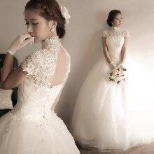 Алмаза кружева принцесса невеста связывают слово плечо свадебные платья для подружек невесты