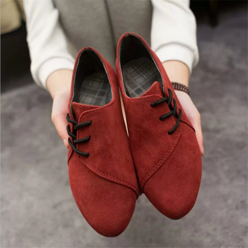 Side Lace Up Women Flats Pointed Toe Women Flats Shoes Solid Color Flock Women Casual Flat Shoes Spring Summer Female Shoes new 2017 spring summer women shoes pointed toe high quality brand fashion womens flats ladies plus size 41 sweet flock t179