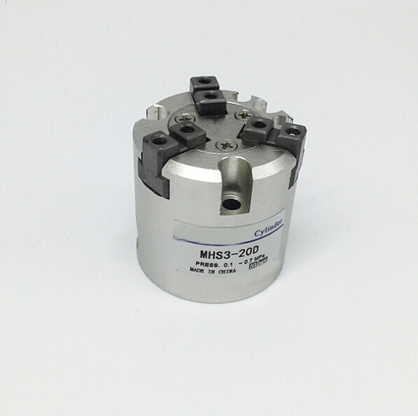 bore 30mm SMC type MHS3 series double action Three finger pneumatic cylinder air gripper high quality double acting pneumatic gripper mhy2 25d smc type 180 degree angular style air cylinder aluminium clamps