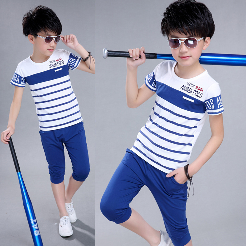 Kids boys clothing sets children short sleeve shirt kid for Dress shirts for athletic guys