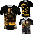 Hot TV Hero Luke Cage Design Men T shirt Cool Fashion Tops Short Sleeve Tees male t-shirt