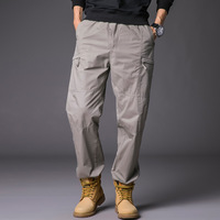 Men's multi pocket sports trousers Europe and the United States loose tooling casual pants trousers