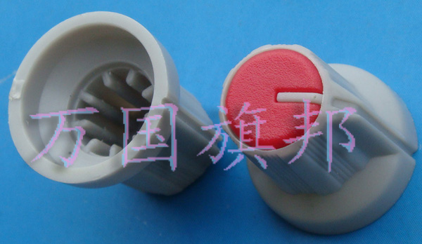 Free Delivery.Red plastic potentiometer knob 16 mm diameter and 15 mm high environmental protection