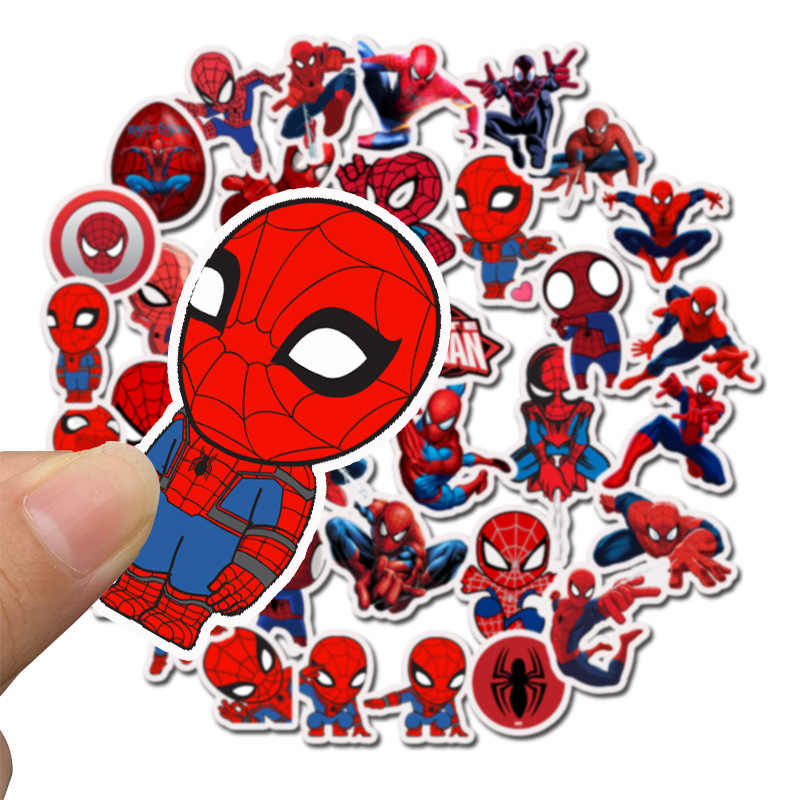 35PCS/Bag Marvel Stickers Avengers Endgame Super Heroes Spider Man Laptop Skateboard Suitcase Waterproof Sticker  Toys For Child