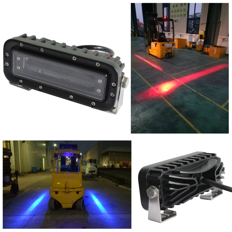 2 X 10-80v scraper Fork Truck forklift Red Warehouse keep out zone light Red zone pedestrian light Red Zone Danger Area Warning 10pcs x red blue zone forklift danger zone warning light 10 80v 18w red safety zone warning led work lamp