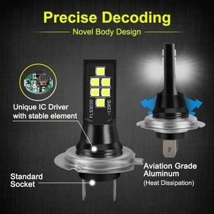 Image 3 - 2Pcs H7 LED Bulb Super Bright 1400lm 12 3030SMD Car Fog Lights 6000K White Driving Day Running Lamp Auto DC 12V 24V