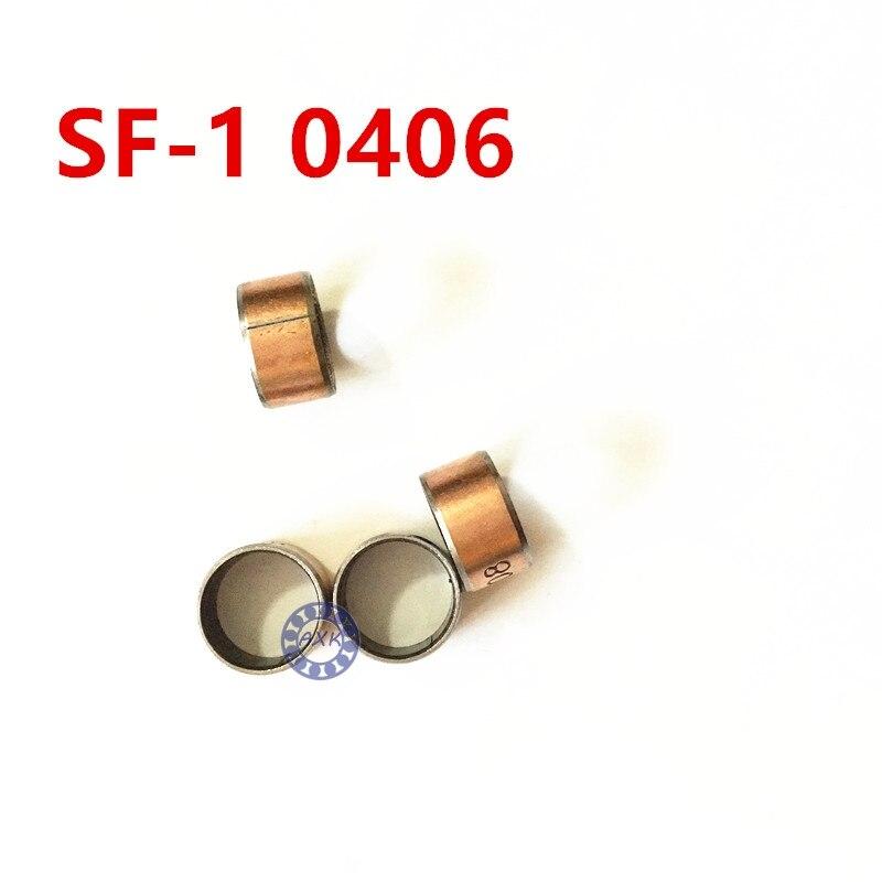 Free shipping 5Pcs SF1 SF-1 0406 0405 0404 0305 0304 0303 0410 Self Lubricating Composite Bearing Bushing Sleeve 4x6x6mm герметик вго 1 ту 38303 0404 90