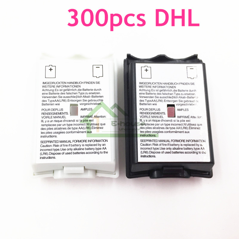 300pcs DHL Free Shipping Battery Pack Battery Cover Case Door replacement for Xbox 360 Controller Shell
