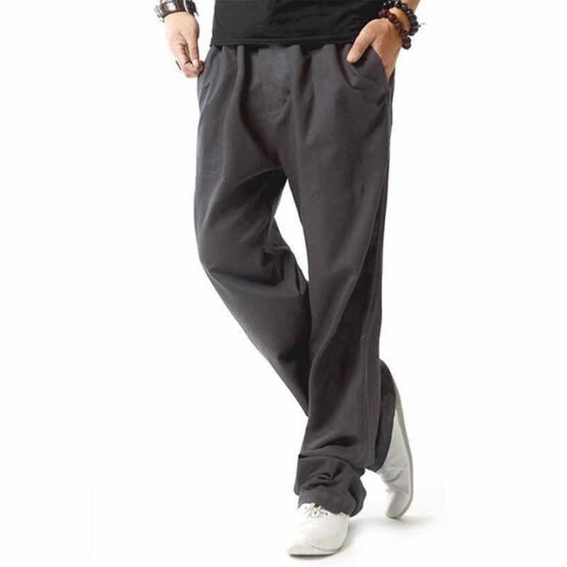 Летний льняной халат супер проветривается повседневная мужская одежда брюки удобные/2019 мужские высококачественные туристические свободные штаны/Азиатские M-4XL