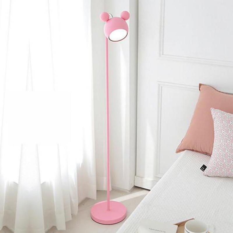 133 cm chambre d'enfant rose lampadaire LED design coréen grande lampe debout fille enfants princesse étude lecture lampadaire lampes Piano