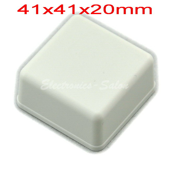Small Desk-top Plastic Enclosure Box Case,White, 41x41x20mm, HIGH QUALITY.