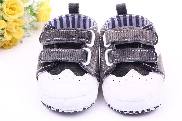 Newborn Baby Prewalker Shoes Infant Toddler Anti-slip Newborn Hole Jeans Sports Sneakers Fashionable