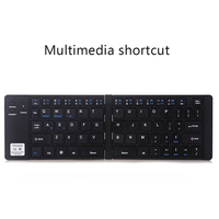 Black Portable Foldable Bluetooth Keyboard Compatible for iPhone X 8 7 6s Plus iPad LSMK99