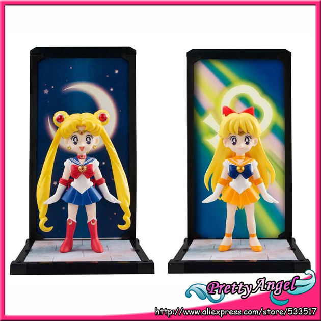 Original Bandai Tamashii Buddies Sailor Moon Pretty Guardian Sailor Moon & Sailor Venus Set of 2 pcs PVC Figure moon flac jeans