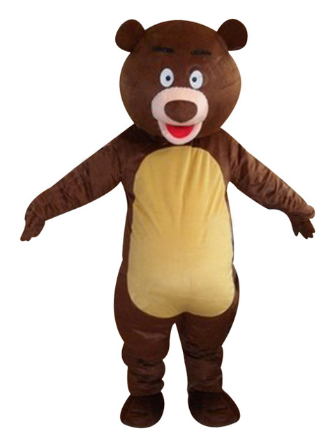 Brown Bear mascot costumes 100% real picture adults christmas Halloween Outfit Fancy Dress Suit Free  sc 1 st  AliExpress.com & Brown Bear mascot costumes 100% real picture adults christmas ...