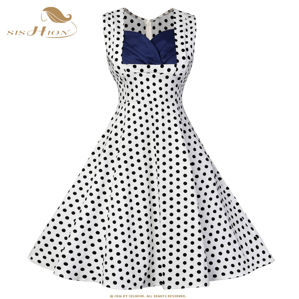 Online Buy Wholesale Navy Blue Polka Dot Dress From China