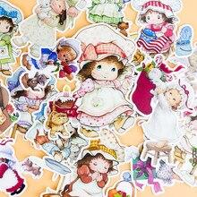 Adesivos de papel de fada infantil, adesivos fofos criativos para scrapbooking, desenhos animados, à prova d'água, 16 peças