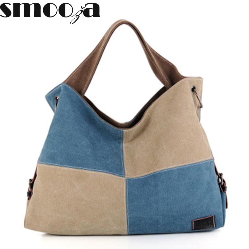 Smooza Hot Canvas Handbags High Quality Women Famous Brand Shoulder Bag Las Tote Patchwork Messenger Bags In From Luggage