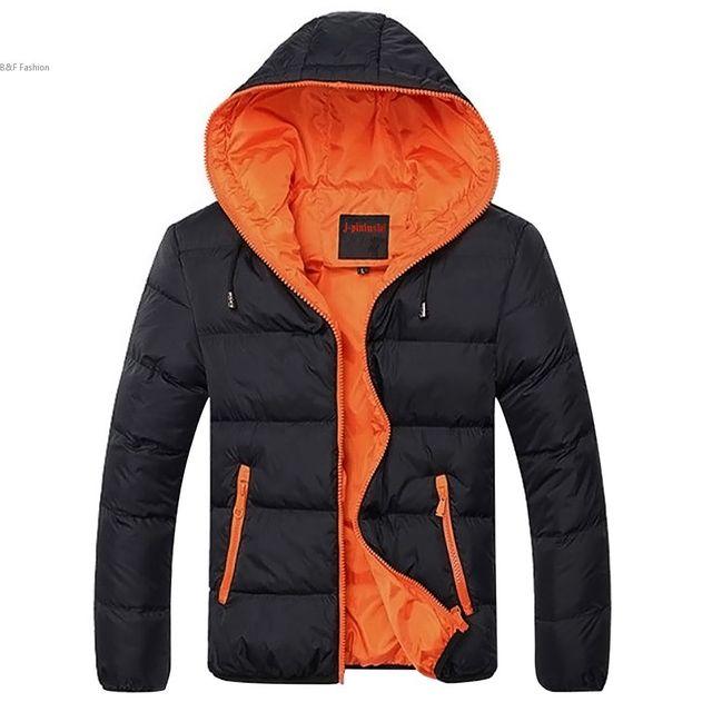 Мужской моды Зима Проложенный Молния Пиджаки Вскользь Теплая Вниз Пальто С Капюшоном Контрастность Цвет Мужчины Зимняя Куртка весте манто homme # k