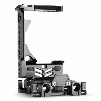 SmallRig GH5 Half Cage + Dual Rod Clamp Baseplate System Kit for Panasonic Lumix GH5 Camera Cage with Battery Grip -2024