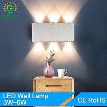 Led Wall Lamp Modern 2W 4W 6W 8W LED Lights AC85-265V Aluminum Decorate Sconce bedroom Bed Bedside Indoor Lighting