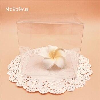 9*9*9 cm 명확한 pvc 상자 플라스틱 포장 상자 투명한 화장 용 병 전자 선물 포장 상자 결혼식 훈장