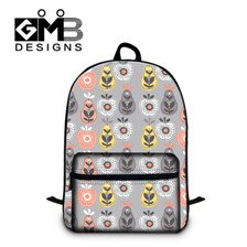 2 2015 Flowers Appliques Womens Colorful Canvas Backpacks Girl Lady Student School Bags Travel Shoulder Bag Mochila free Shipping