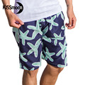 KISSyuer Quick-drying Navy blue green sea star Starfish Mens shorts swimwear shorts Man Couple Men board shorts KBS1112