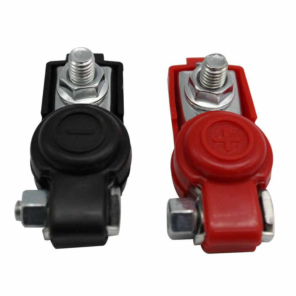 Car Battery Terminal Clamp Clip Connector Adjustable Positive Negative For Tesla Model 3 Bmw E46 E90 Ford Focus 2 Volkswagen