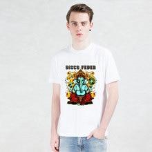 disco feder T-shirts printed joss t shirt men Funny Short Sleeve novel DJ elephant Tshirts 2016 New Fashion Summer Style