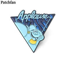 Patchfan Aladdin and the magic lamp Zinc tie Pins backpack clothes brooches for men women hat decoration badges medals A2033