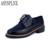 ASYSPLNX pisos vestido de la plataforma de las mujeres clásicas de cuero genuino oxfords zapatos de primavera del dedo del pie puntiagudo zapatos casuales zapatos Mocasines mujer