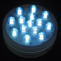 2014 White Color 14 Led Remote Controlled Submersible Led Light Waterproof Candle Lamp Floralytes Wedding Decoration