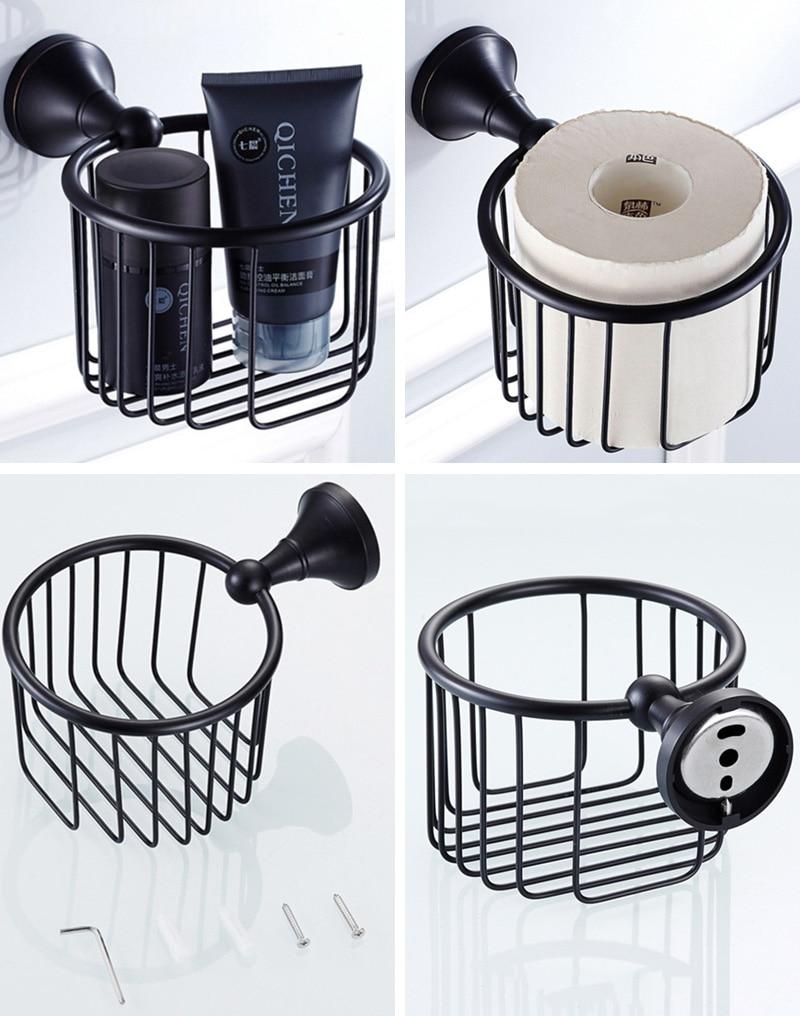 Black creative paper basket holder for bathroom toilet