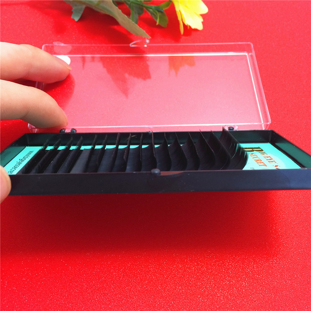 1 Box/set Natural False Eye Lashes Mink Individual Eyelash Extension 12rows professional individual Russia Volume Single lash